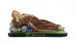 Copertina di 'Statua Santa Rosalia coricata in gesso dipinta a mano - lunghezza 16 cm (proporzionata per linea da 20cm)'
