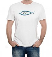 T-shirt Yeshua con pesce e scritta - taglia S - uomo