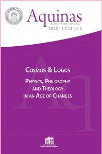 Copertina di 'Aquinas. 2020/1-2: Cosmos & Logos'