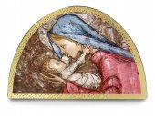 "Tavola ad arco ""Madonna col Bambino"" - cm 18x12"