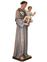 """Immagine di 'Statua  in legno colorato """"Sant'Antonio di Padova"""" - altezza 120 cm'"""