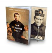 Libretto Rosario con immagine di San Giovanni Bosco e rosario