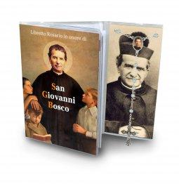 Copertina di 'Libretto con Rosario San Giovanni Bosco - italiano'