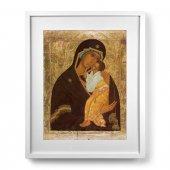"""Quadro con passe-partout e cornice minimal  """"Madre di Dio di Jaroslavl"""" - 43 x 53 cm"""