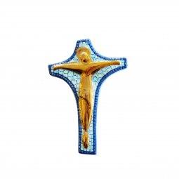 Copertina di 'Crocifisso da parete in ceramica - 12 cm'