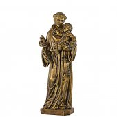 """Statua sacra in resina brunita """"Sant'Antonio di Padova"""" - altezza 80 cm"""