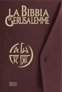 Copertina di 'La Bibbia di Gerusalemme (copertina in plastica con bottone)'