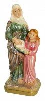 Statua Sant'Anna in gesso madreperlato dipinta a mano - circa 15 cm