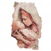 """Quadro in resina con bordo irregolare """"Madonna col Bambino"""" - dimensioni 43x28 cm"""