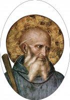 Adesivo resinato per rosario fai da te San Benedetto - misura 2