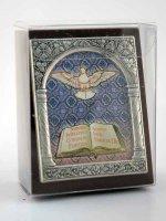 """Immagine di 'Icona in lamina d'argento """"I Sette doni dello Spirito Santo"""" - dimensioni 6,5x5,2 cm'"""