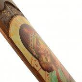 """Immagine di 'Icona in legno e in rilievo """"Madonna della tenerezza"""" - 40 x 15 cm'"""