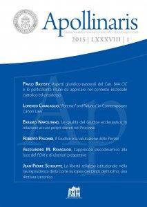 Copertina di 'Apollinaris n. 1/2015'