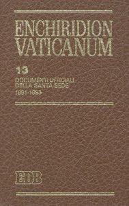 Copertina di 'Enchiridion Vaticanum. 13'