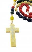 Immagine di 'Rosario missionario legno ovale mm 8'