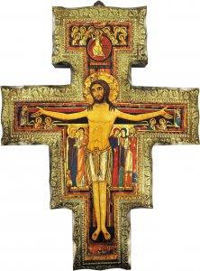 Copertina di 'Crocifisso di San Damiano su legno da parete - 16 x 12 cm'
