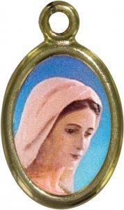 Copertina di 'Medaglia Madonna di Medjugorie in metallo dorato e resina - 2,5 cm'