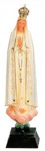 Copertina di 'Statua Madonna di Fatima dipinta a mano con decorazioni color oro e strass (circa 22 cm)'