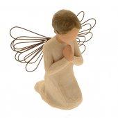 """Statuetta in resina """"Angelo che prega"""" - altezza 11 cm"""