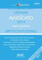 L'esame di Avvocato 2013 sintesi mirata di Diritto Costituzionale - Redazioni Edizioni Simone