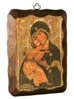 Quadretto in legno Madonna della tenerezza (10x15)
