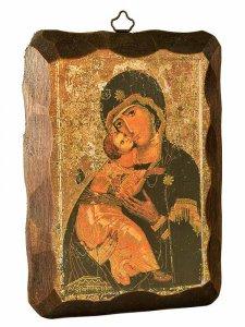 """Copertina di 'Quadretto in legno """"Madonna della tenerezza"""" - dimensioni 10x15 cm'"""