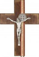 Croce di San Benedetto in legno con Preghiera di liberazione - altezza 22 cm