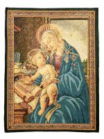 """Arazzo sacro """"Madonna del Libro"""" - dimensioni 33x25 cm - Sandro Botticelli"""