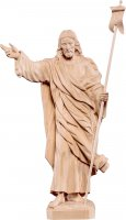 Cristo  risorto - Demetz - Deur - Statua in legno naturale. Altezza pari a 60 cm.