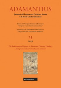 Copertina di 'Adamantius. Notiziario del Gruppo italiano di ricerca su «Origene e la tradizione alessandrina». Testi greci cristiani e traduzioni armene'