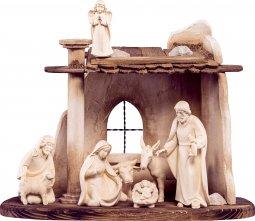 Copertina di 'Set presepe completo da 9 pezzi (capanna e statuine), Presepio Artis da 10 cm, legno naturale - Demetz Deur'