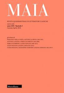 Copertina di 'Maia. 1/2018: Rivista quadrimestrale di letterature classiche'