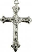 Croce in metallo argentato con Cristo - 3 cm