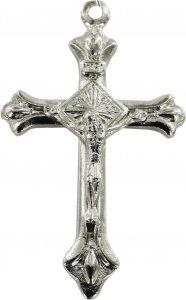 Copertina di 'Croce in metallo argentato con Cristo - 3 cm'