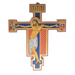 """Copertina di 'Croce icona in legno con foglia oro """"Christus Patiens"""" - dimensioni 21x25 cm'"""
