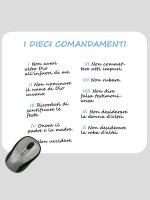"""Mousepad """"I dieci comandamenti"""" (sfondo bianco)"""