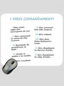 """Copertina di 'Mousepad """"I dieci comandamenti"""" (sfondo bianco)'"""