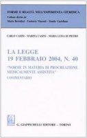 """La legge 19 febbraio 2004, n. 40 «Norme in materia di procreazione medicalmente assistita"""". Commentario - Casini Carlo, Casini Marina, Di Pietro M. Luisa"""