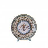 """Patena in ceramica simbolo IHS """"Modello Vario e oro"""" - 15 cm"""
