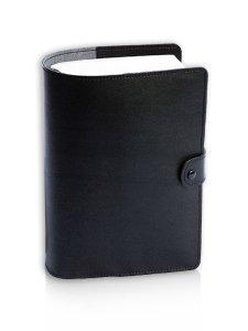 Copertina di 'Custodia in pelle con chiusura a bottone per Bibbia di Gerusalemme - colore nero'