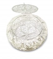 Portarosario in filigrana d'argento 925 a forma tonda