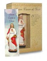 Immagine di 'Statua del Sacro Cuore di Gesù da 12 cm in confezione regalo con segnalibro'