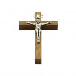 Copertina di 'Crocifisso in legno con corpo di Cristo in metallo - altezza 9 cm'
