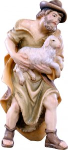 Copertina di 'Pastore con pecora H.K. - Demetz - Deur - Statua in legno dipinta a mano. Altezza pari a 11 cm.'
