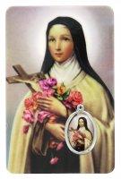 Card Santa Teresa di Lisieux in PVC - 5,5 x 8,5 cm - italiano