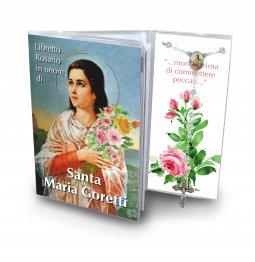 Copertina di 'Libretto con Rosario Santa Maria Goretti - Italiano'