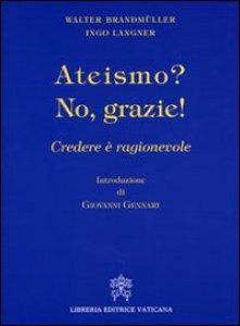 Copertina di 'Ateismo? No grazie!'