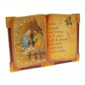 """Icona a forma di libro """"Natività"""" - dimensioni 10x13 cm"""