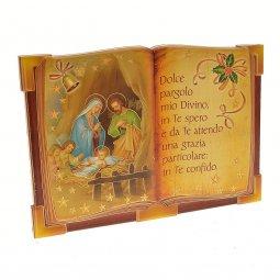 """Copertina di 'Icona a forma di libro """"Natività"""" - dimensioni 10x13 cm'"""