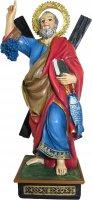 Immagine di 'Statua di Sant'Andrea da 12 cm in confezione regalo con segnalibro in versione FRANCESE'